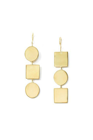 Anika Geo Drop Earrings
