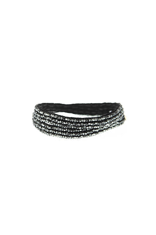 Black Simple XS Double Wrap Bracelet