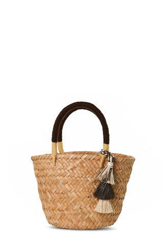 Behati Tassel Mini Straw Tote