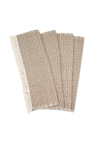 Handwoven Grey Fringe Placemats