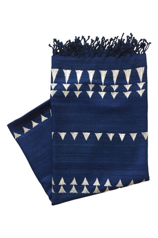 Indigo Silver Throw