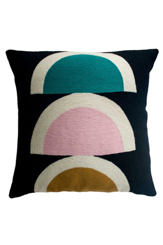 Viola Black Pillow