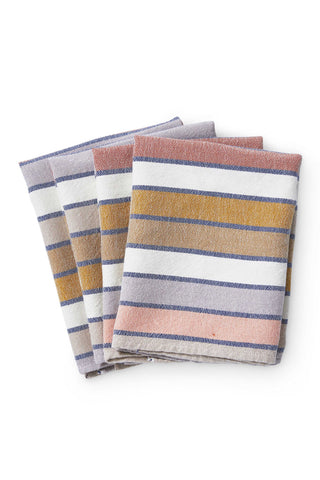 Sunrise Stripe Napkins (Set of 4)