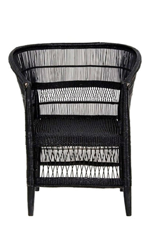 Malawi Black Cane Chair