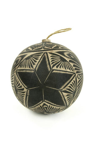 Handcarved Black Gourd Ornaments