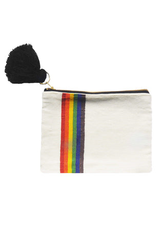 Rainbow Beaded Pouch
