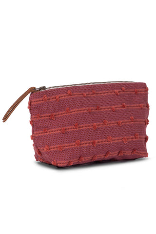 Mini Basketweave Cochineal Cosmetic Pouch