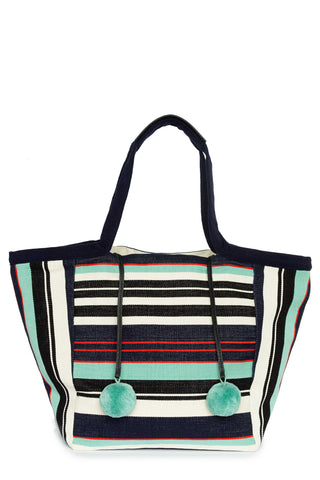 Seaside Stripe Rosa Tote