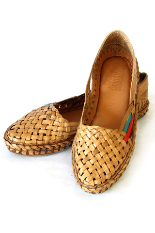 Mohinders Brown Woven Flats