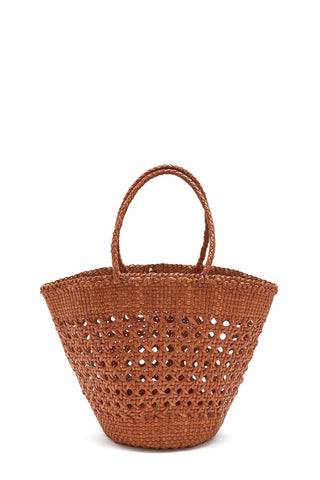 Cannage Myra Basket Tote Bag
