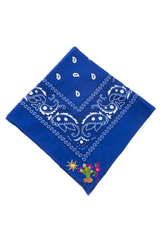 Embroidered Cactus Bandana