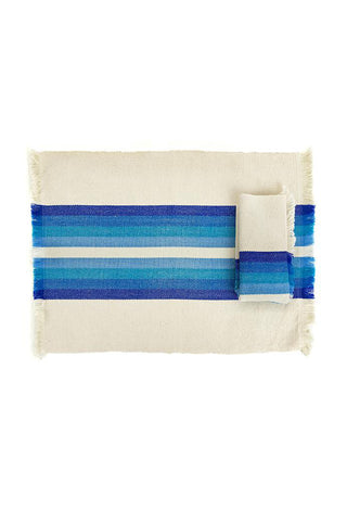 Striped Blue Woven Napkin
