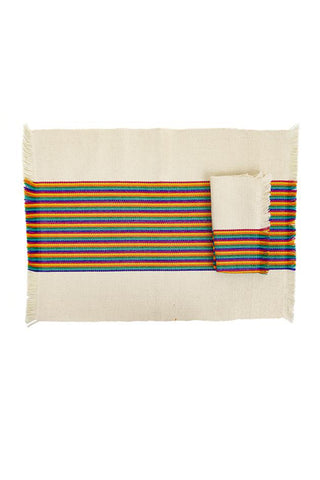 Striped Multi Woven Napkin