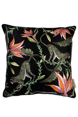 Ardmore Monkey Paradise Silk Pillow Cover