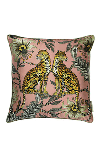 Ardmore Lovebird Leopard Silk Pillow Cover