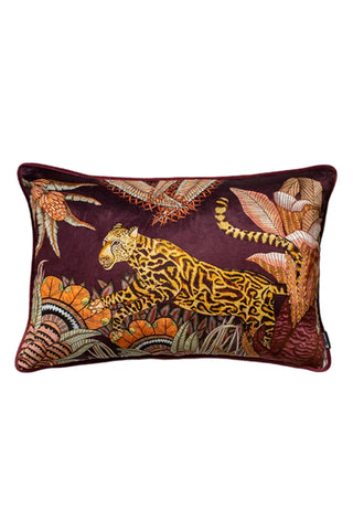 Cheetah Forest Rectangle Velvet Pillow
