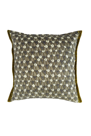 Ardmore Feather Silver Velvet Pillow