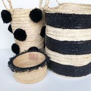 Striped Sequin Basket