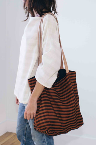 Copper Stripe Tote Bag