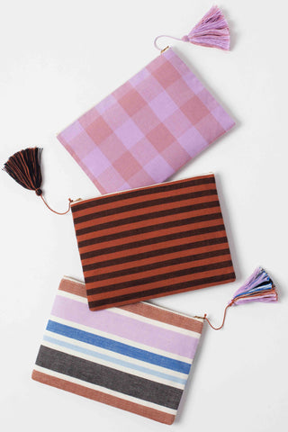 Andres Stripe Simple Clutch