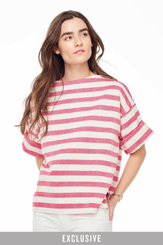 Huipile Pink Stripe Top