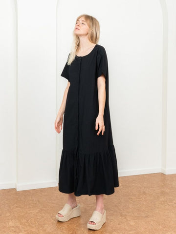 Poplin Black Shirt Dress