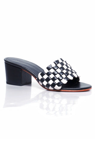 Pentz Polished Check Mules