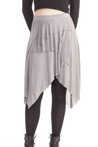 Chanda Grey Cascade Skirt