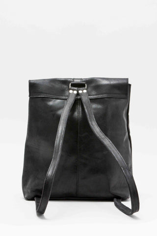 Yami Black Leather Backpack