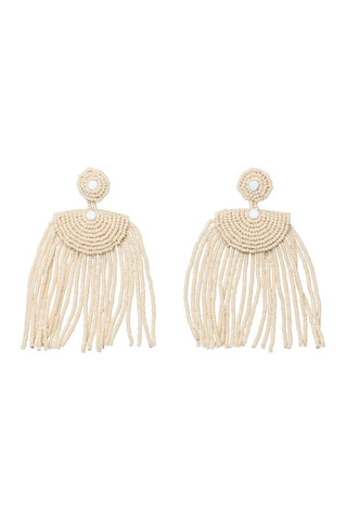 Pink Kifungo Short Tassel Earrings