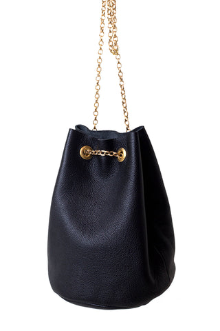 Diani Leather Bucket Bag