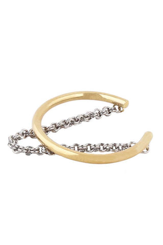 Layered Chain Cuff