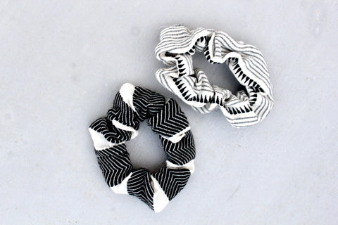 Black & White Scrunchies