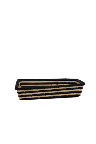Black Striped Serving Tray