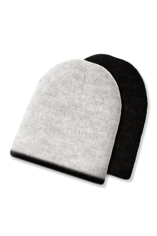 Eclipse Reversible Alpaca Beanie by Shupaca. Handmade in Ecuador. Soft as snow and doing double-duty, these alpaca beanies are reversible, to work with all your winterwear and let you live life inside out once in a while. Color black grey. 70% alpaca, 16% Acrylic, 14% elastic.