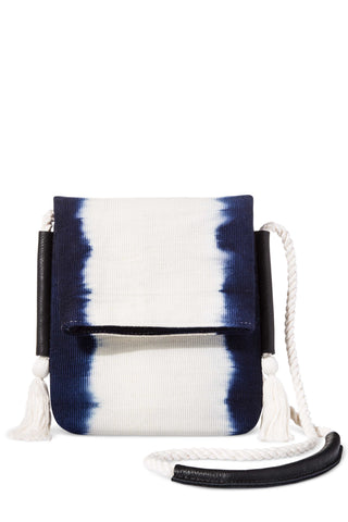 Dip-Dye Stripe Crossbody Bag