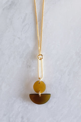 Tho Bar & Geo Honey Pendant Necklace