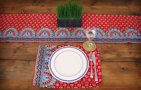 9 Piece Red Tabletop Set