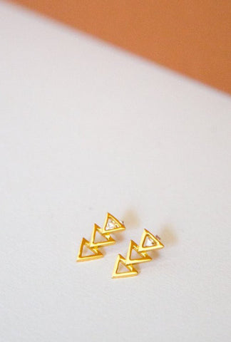 Stacked Triangle Studs