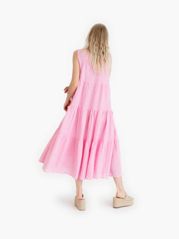 Tiered Orchid Maxi Dress