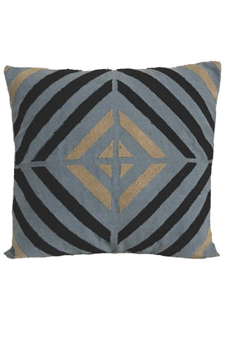 Geo Embroidered Pillow