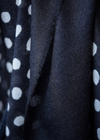 Maya Black Dot Scarf
