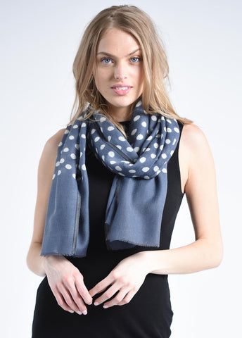 Maya Blue Dot Scarf