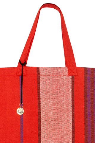 Kesho Handwoven Red Tote Bag