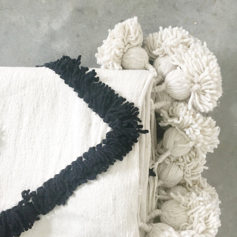 Majid Moroccan Pompom Throw