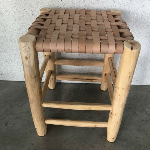 Modern Leather Moroccan Stool
