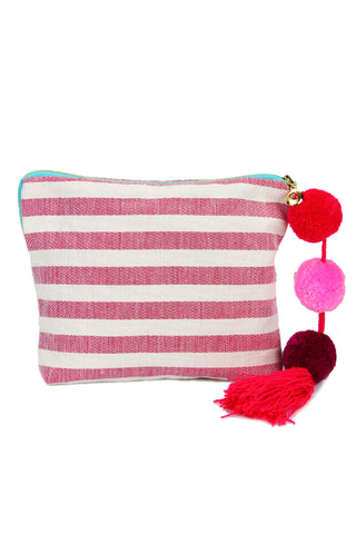 Coco Navy Stripe Pouch