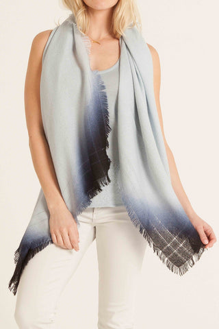 Ombre Hand Dyed Baby Alpaca Blue Scarf
