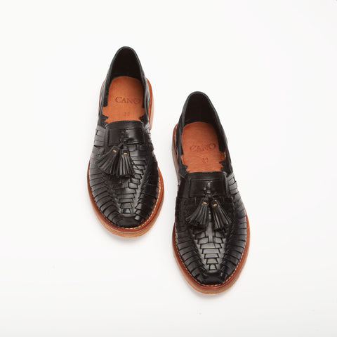 Frida Black Tassel Loafer