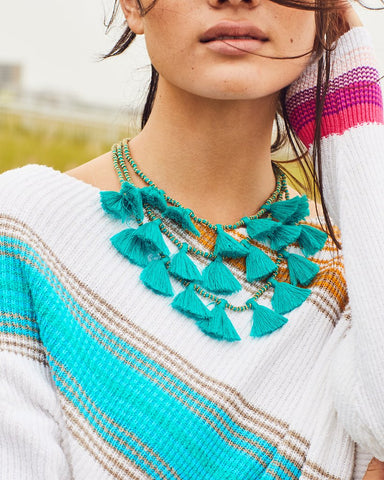 Turquoise Gia Tassel Necklace